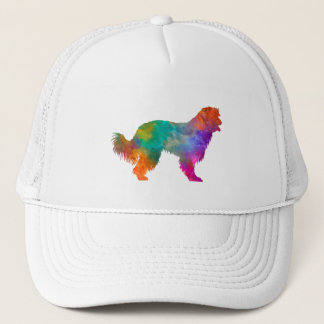 Pyrenean Sheepdog in watercolor Trucker Hat
