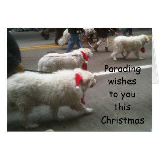 PYRENEES ON PARADE CHRISTMAS CARD