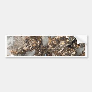 Pyrite and Quartz Bumper Sticker