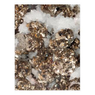 Pyrite and Quartz Postcard