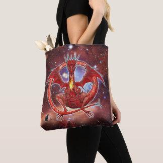 Pyrope Cosmic Dragon Tote Bag