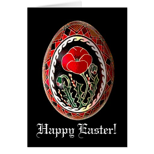 Pysanky Ukrainian Easter Egg Card