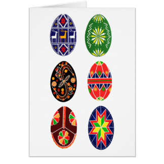 Pysanky Ukrainian Easter eggs Card