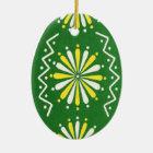 Pysanky Ukrainian Easter eggs Ceramic Ornament