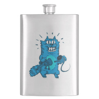 pyscho cat and unfortunate mouse funny cartoon flasks