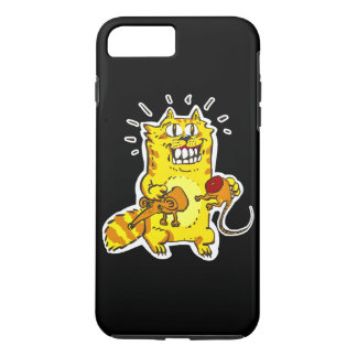 pyscho cat and unfortunate mouse funny cartoon iPhone 8 plus/7 plus case