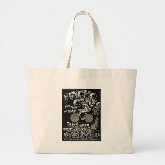 Pyscho Cycles - Vintage Bike Advertisement Jumbo Tote Bag