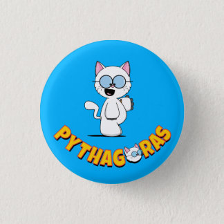 Pythagoras the Cat Button