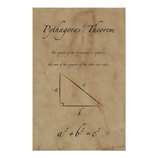 Pythagoras' Theorem - Math Posters