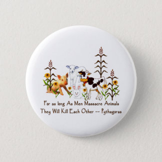 Pythagoras Vegetarian quote 2 Inch Round Button