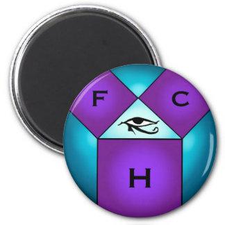 Pythagorean Mason 2 Inch Round Magnet