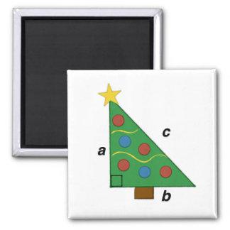 Pythagorean Theorem Christmas Geom-e-tree Square Magnet