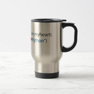 Python Lover - And Coffee Lover Travel Mug