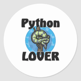 Python Lover Round Sticker
