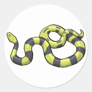 Python Snake Classic Round Sticker