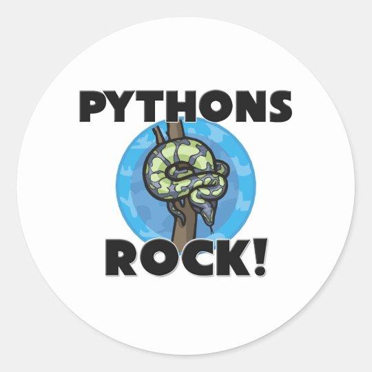 Pythons Rock Classic Round Sticker