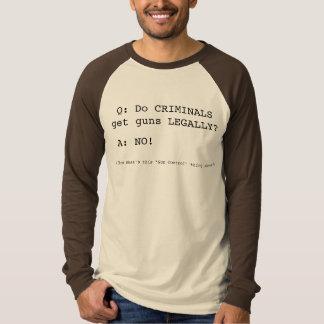 Q: Do CRIMINALS get guns LEGALLY?, A: NO!, (The... T-Shirt