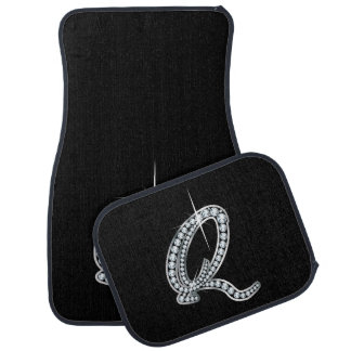"Q Faux-""Diamond Bling"" Car Mat"