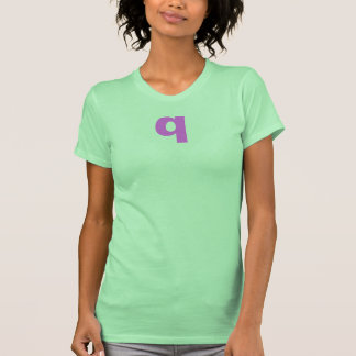 """""""q"""" Initial Women's Shirt."""