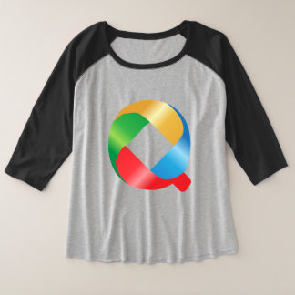 Q is for Queen rainbow Alphabet Baby  T-Shirt