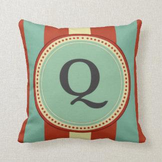 'Q' Monogram Throw Pillow