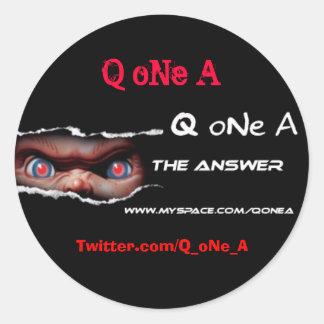 Q oNe A Sticker2 Round Sticker