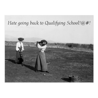 Q School - Golf Postcard