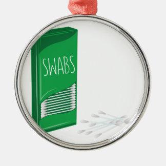Q-tip Swabs Metal Ornament
