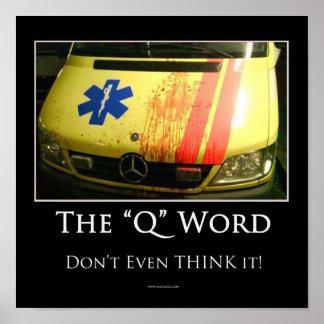 Q Word Motivational Poster