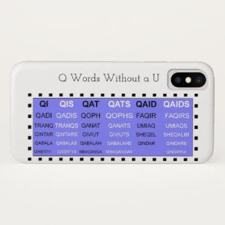 Q Words Without a U Game helper Case-Mate iPhone Case