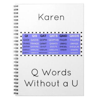 Q Words Without a U Game helper Notebooks