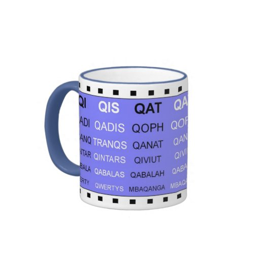 Q words without the U word games mug