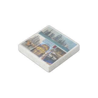 QA - Qatar - Skyline Doha -The Pearl - Souq Waqif Stone Magnets