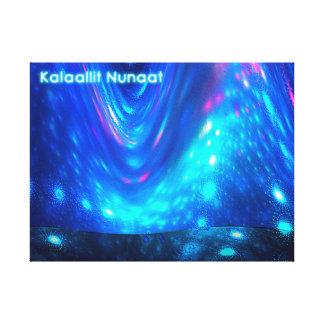 Qaanaaq - Northern Lights Canvas Print