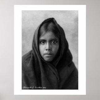 Qahatika Girl by Edward S. Curtis 16 x 20 Poster