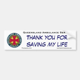 QAS - Thank you for saving my life Bumper Sticker