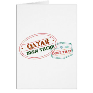 Qatar Been There Done That Card