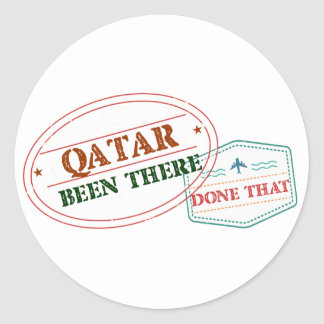 Qatar Been There Done That Classic Round Sticker