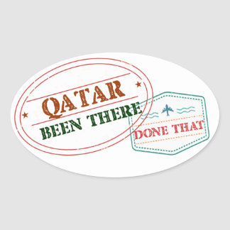 Qatar Been There Done That Oval Sticker