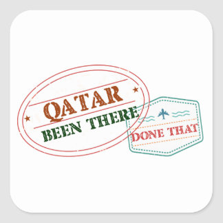 Qatar Been There Done That Square Sticker