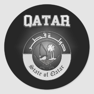 Qatar Coat of Arms Classic Round Sticker