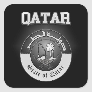 Qatar Coat of Arms Square Sticker