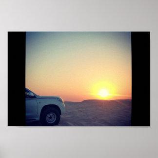 Qatar Desert Poster