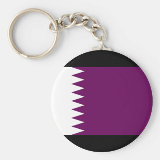Qatar Flag Basic Round Button Keychain