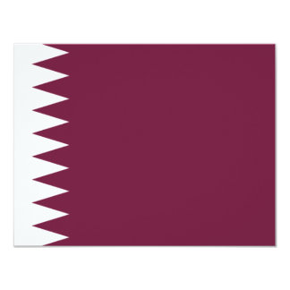 Qatar flag card