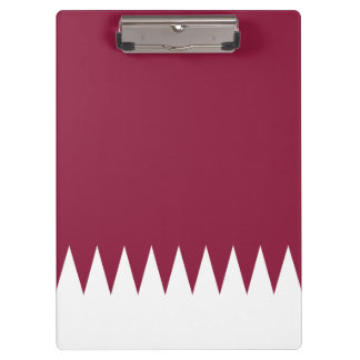 Qatar Flag Clipboard