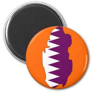 Qatar flag map magnet
