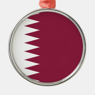 Qatar Flag Metal Ornament