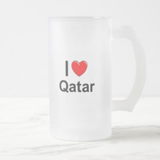 Qatar Frosted Glass Beer Mug