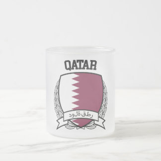 Qatar Frosted Glass Coffee Mug